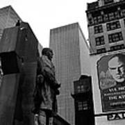 Film Homage The Fighting 69th 1940 Fr. Duffy Statue Yul Brynner Palace Theater New York 1977 Art Print