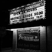 Film Noir Farewell My Lovely 1975 Brothel Guide Virginia St. Bookstore Reno Nevada 1979-2008 Art Print