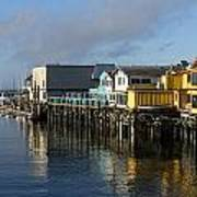 Fishermans Wharf In Monterey Bay Art Print