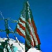 Flag Day Reflection Art Print by Newel Hunter