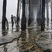 Fog At The Pier Art Print