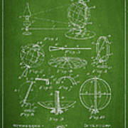 Folding School Globe Patent Drawing From 1887 Print by Aged Pixel