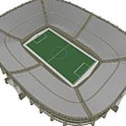 Football Soccer Stadium Art Print