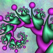 Fractal Neon Catwalk Art Print
