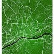 Frankfurt Street Map - Frankfurt Germany Road Map Art On Colored Art Print