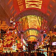 Fremont Street Experience Las Vegas Nv Art Print