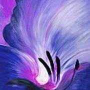 From The Heart Of A Flower Blue Art Print