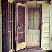 Front Door Of Abandoned House Art Print