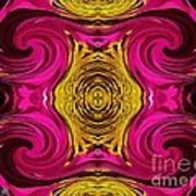 Fuchsia Sensation Abstract Art Print