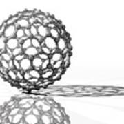 Fullerene Molecule Art Print