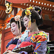 Geishas Senso Ji Art Print