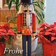 German Nutcracker - Frohe Weihnachten Art Print