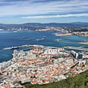 Gibraltar City And Bay Art Print