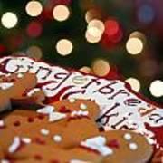 Gingerbread Cookies On Platter Art Print