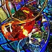 Glass Abstract 691 Art Print
