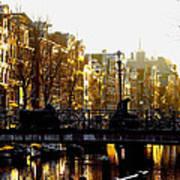 Golden Amsterdam Art Print