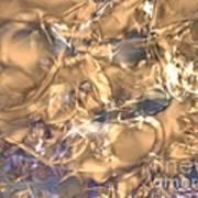 Golden Synapse Art Print
