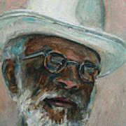 Gray Beard Under White Hat Art Print