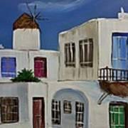 Greek Village Art Print