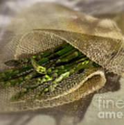 Green Asparagus On Burlab Art Print