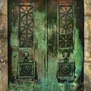 Green Doors Art Print