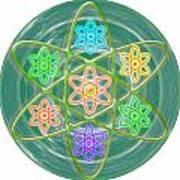 Green Revolution Chakra Mandala Art Yoga Meditation Tools Navinjoshi  Rights Managed Images Graphic  Art Print