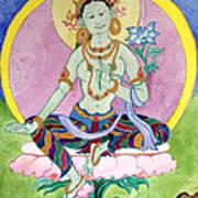 Green Tara 13 Art Print