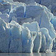Grey Glacier In Chilean National Park Art Print