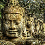Guardians Of Angkor Thom Art Print