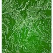 Guatemala Street Map - Guatemala City Guatemala Road Map Art On  Art Print