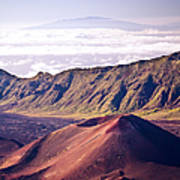 Haleakala Sunrise On The Summit Maui Hawaii - Kalahaku Overlook Art Print