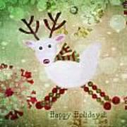 Happy Holidays Art Print by Rebecca Cozart