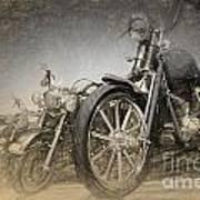 Harley Davidsons Art Print