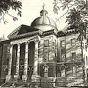 Hays County Courthouse Art Print