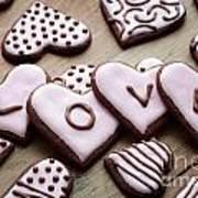 Heart Cookies Art Print