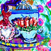 Heart Roses And Tiara Art Print