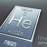 Helium Chemical Element Art Print