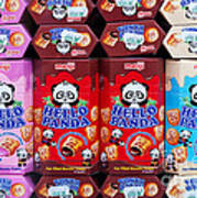 Hello Panda Biscuits Art Print