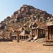 Hindu Ruins At Hampi Art Print