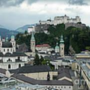 Hohensalzburg Castle In Salzburg Austria Art Print