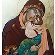 Holy Virgin Of Tenderness Art Print by Janeta Todorova