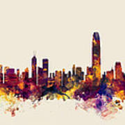 Hong Kong Skyline Art Print