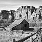 Horse Barn In Fruita Utah Art Print