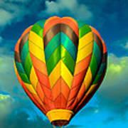 Hot Air Balloon Art Print by Robert Bales