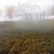 House In Fog Art Print