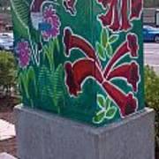 Hummingbird Traffic Signal Box Art Print
