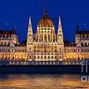 Hungarian Parliament In Budapest Art Print