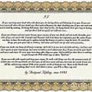 If By Rudyard Kipling Art Print