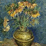 Imperial Fritillaries In A Copper Vase Art Print