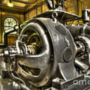 In The Ship-lift Engine Room Art Print by Heiko Koehrer-Wagner